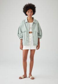 PULL&BEAR - Veste en jean - light green - 1
