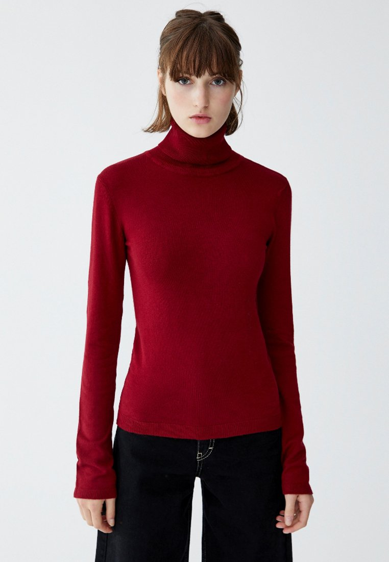 PULL&BEAR - Jumper - bordeaux