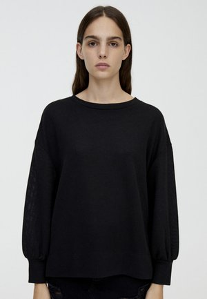 MIT PUFFÄRMELN  - Strikpullover /Striktrøjer - black
