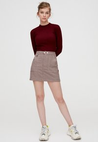PULL&BEAR - Maglione - bordeaux - 1