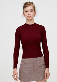 PULL&BEAR - Maglione - bordeaux - 0