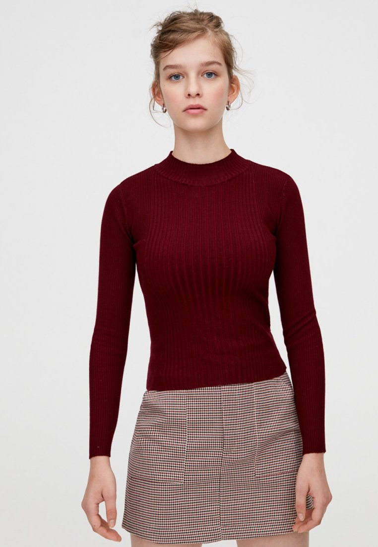 PULL&BEAR - Maglione - bordeaux