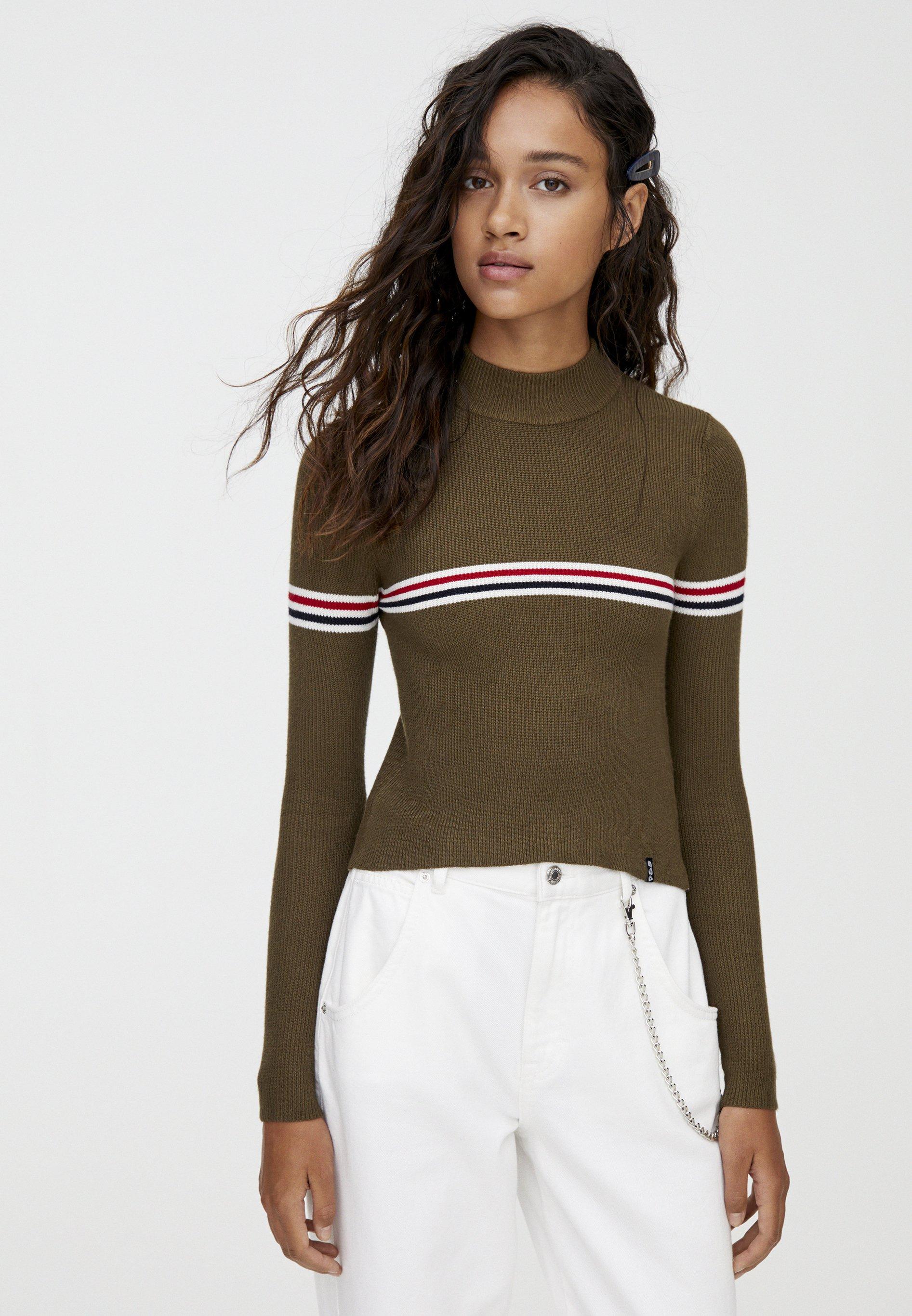 PULL&BEAR Pullover khaki