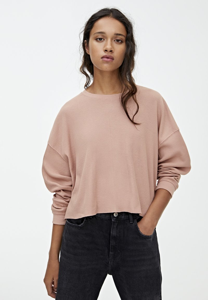 PULL&BEAR - LONG SLEEVE - Trui - rose