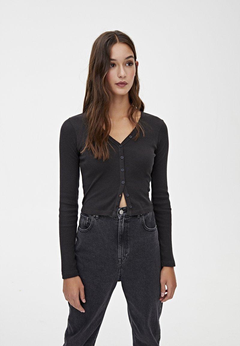 PULL&BEAR - Vest - black
