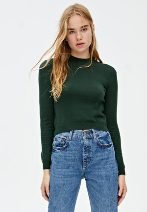 MIT PERKINSKRAGEN - Stickad tröja - dark green