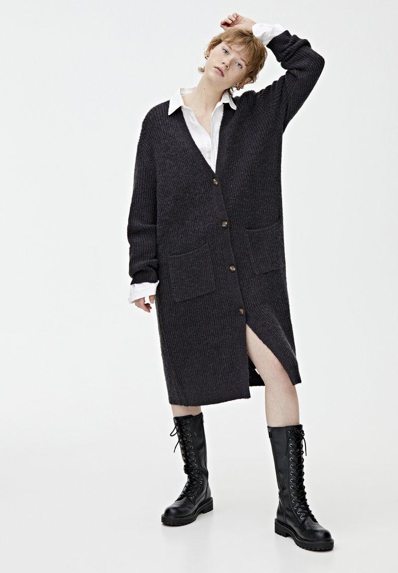 PULL&BEAR - Vest - dark grey