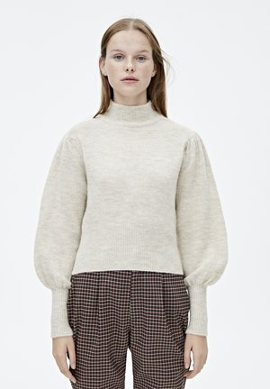 MIT BALLONÄRMELN  - Pullover - mottled beige