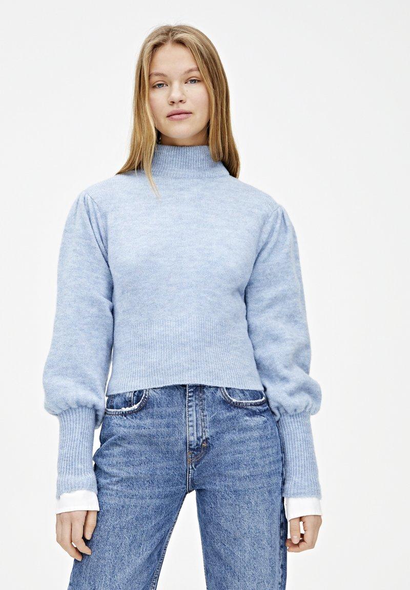 PULL&BEAR - MIT BALLONÄRMELN  - Sweter - blue