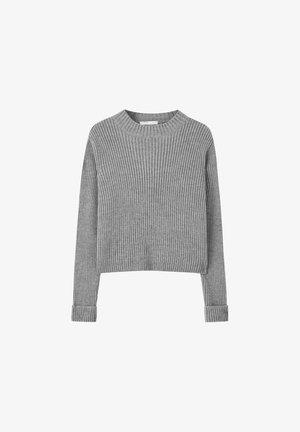 RIPPENSTRICK-PULLOVER MIT HOCHGEROLLTEM ÄRMELBUND 05553308 - Pullover - dark grey