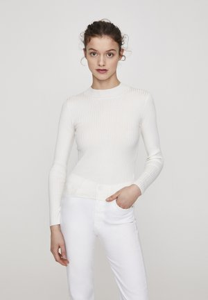 MIT STEHKRAGEN  - Sweter - beige