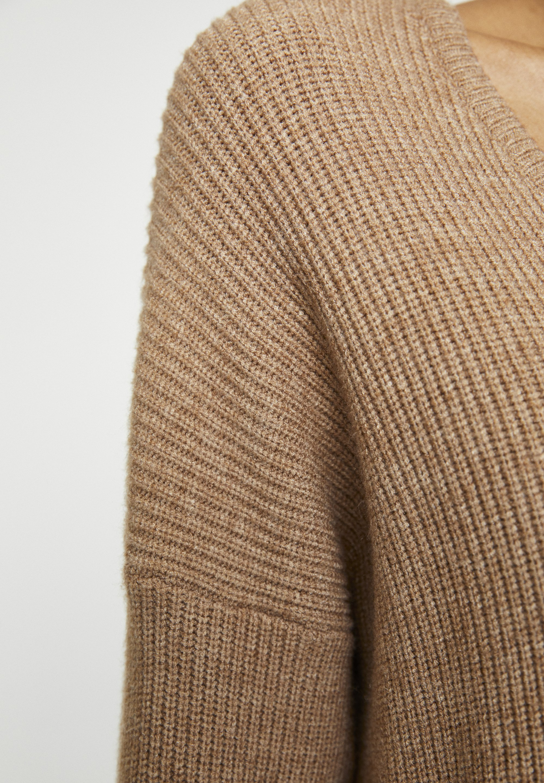 Pull&bear Mit V-ausschnitt - Pullover Mottled Brown