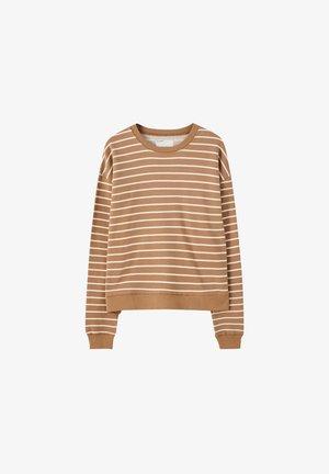 MIT STREIFENPRINT - Sweatshirt - brown