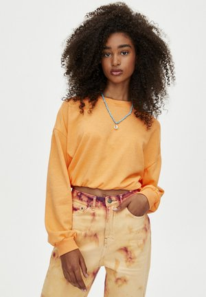 MIT GUMMIZUG AM SAUM  - Sweatshirt - orange