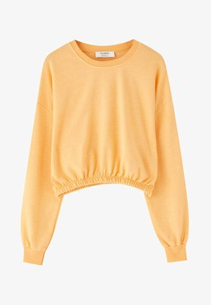 MIT GUMMIZUG AM SAUM  - Sweatshirts - orange