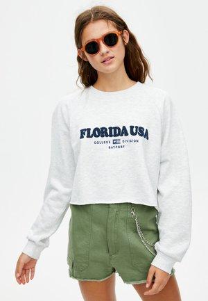 MIT SCHRIFTZUG FLORIDA USA  - Sweatshirt - light grey