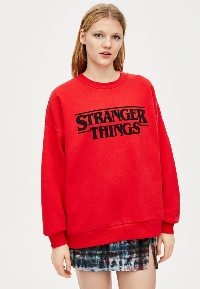 PULL&BEAR - STRANGER THINGS - Sweater - red