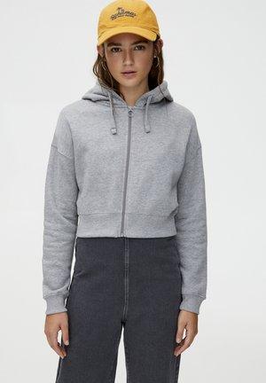 MIT KAPUZE  - veste en sweat zippée - grey
