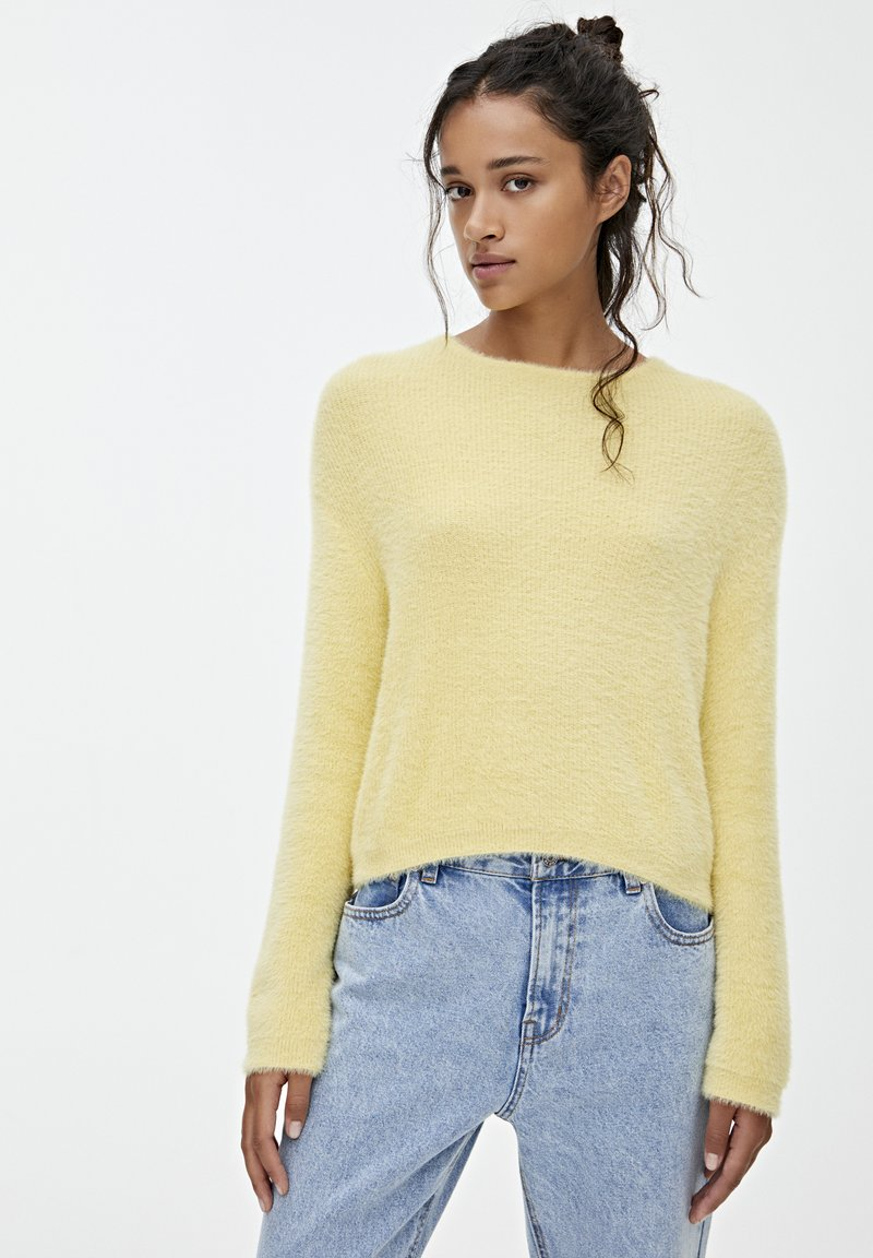 PULL&BEAR - Strickpullover - yellow