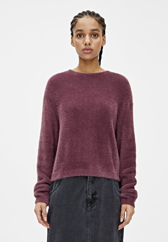 BASIC-PULLOVER AUS KUNSTFELL 09558321 - Maglione - bordeaux
