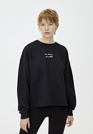 MIT SLOGAN - Sweatshirt - black