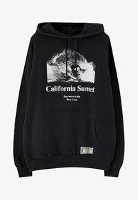 PULL&BEAR - CALIFORNIA SUNSET - Mikina skapucí - black - 6