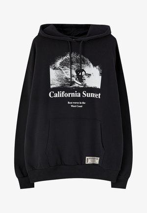CALIFORNIA SUNSET - Felpa con cappuccio - black