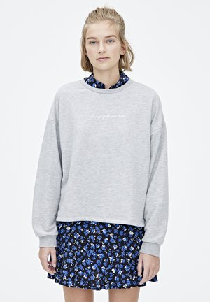 MIT FARBLICH ABGESETZTEM SLOGAN - Sweater - grey