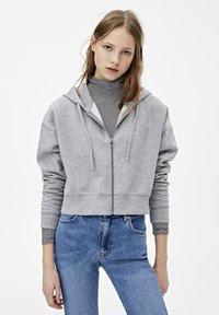 PULL&BEAR - MIT KAPUZE UND REISSVERSCHLUSS - veste en sweat zippée - dark grey - 3