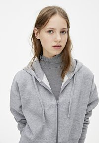 PULL&BEAR - MIT KAPUZE UND REISSVERSCHLUSS - veste en sweat zippée - dark grey - 4