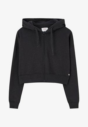 MIT KAPUZE UND REISSVERSCHLUSS - veste en sweat zippée - black