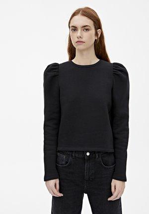 BASIC-SWEATSHIRT MIT PUFFÄRMELN 05596332 - Sweatshirt - black