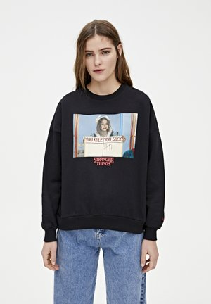 SWEATSHIRT STRANGER THINGS 3 ROBIN 05596329 - Sweatshirt - black