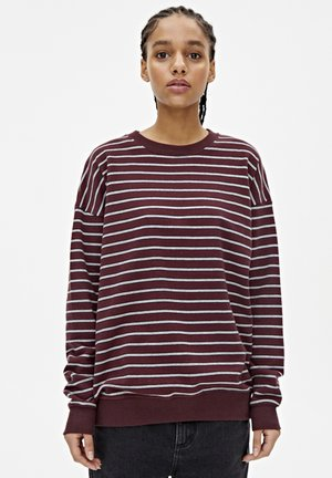 BASIC-SWEATSHIRT MIT STREIFENPRINT 05596301 - Sweater - bordeaux
