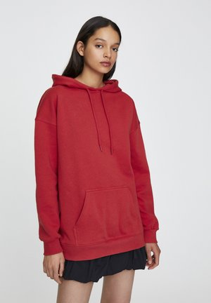 BASIC - Sweat à capuche - red