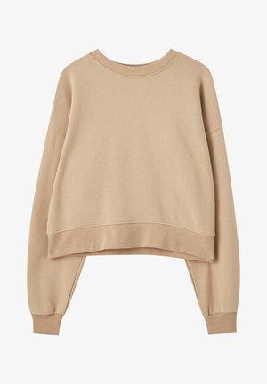 MIT RUNDAUSSCHNITT - Sweatshirt - brown