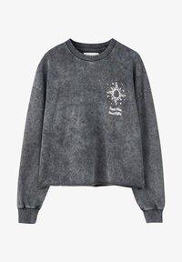 PULL&BEAR - Sweater - mottled dark grey - 5