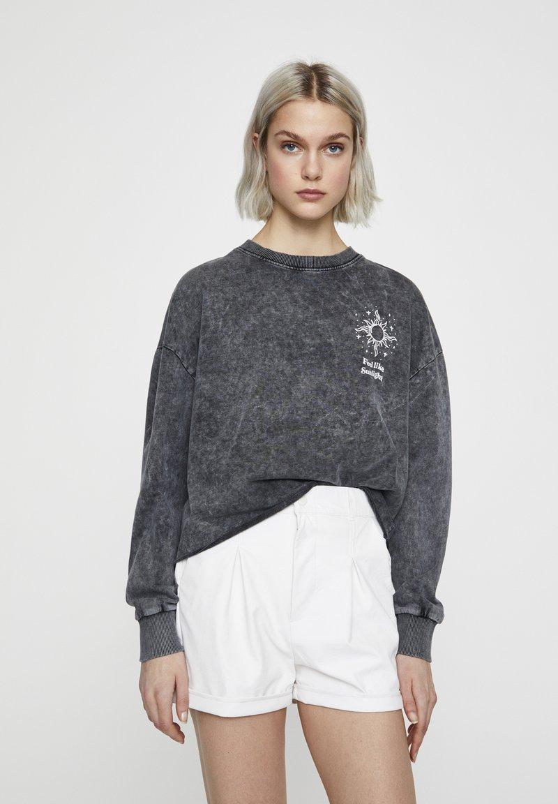 PULL&BEAR - Sweater - mottled dark grey