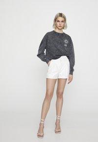 PULL&BEAR - Sweater - mottled dark grey - 1