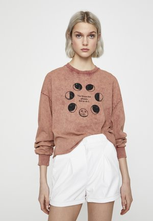 Sweatshirt - burnt orange denim
