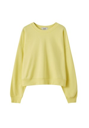 MIT RUNDAUSSCHNITT - Sweater - light yellow