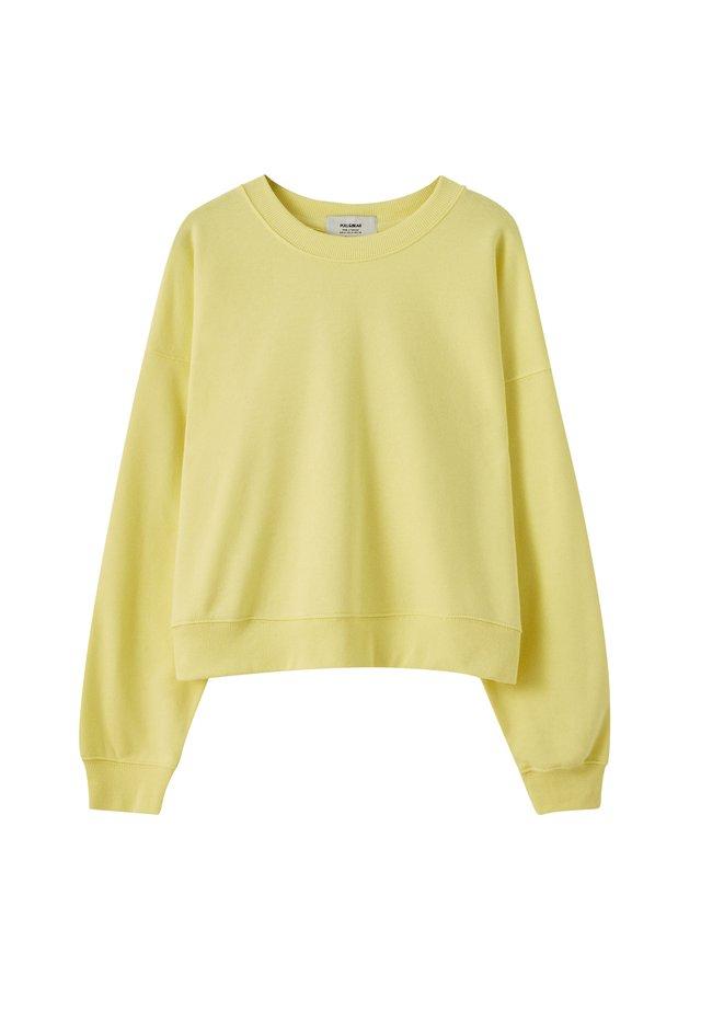 MIT RUNDAUSSCHNITT - Sweatshirts - light yellow