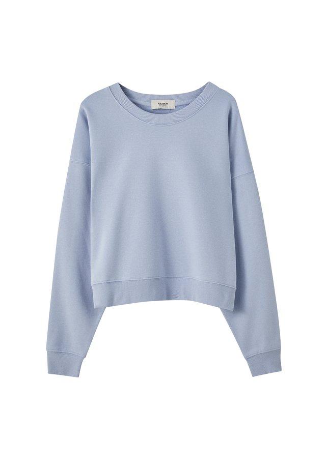 MIT RUNDAUSSCHNITT - Sweatshirts - blue
