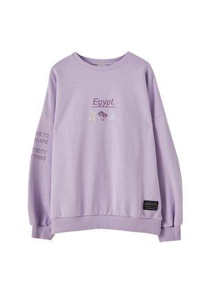 MIT KONTRASTFARBENEM MOTIV - Sweatshirt - mauve