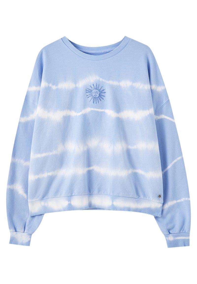PULL&BEAR - MIT SONNE - Sweatshirt - light blue