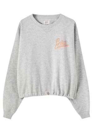 MIT GUMMIZUG AM SAUM - Sweatshirt - grey denim