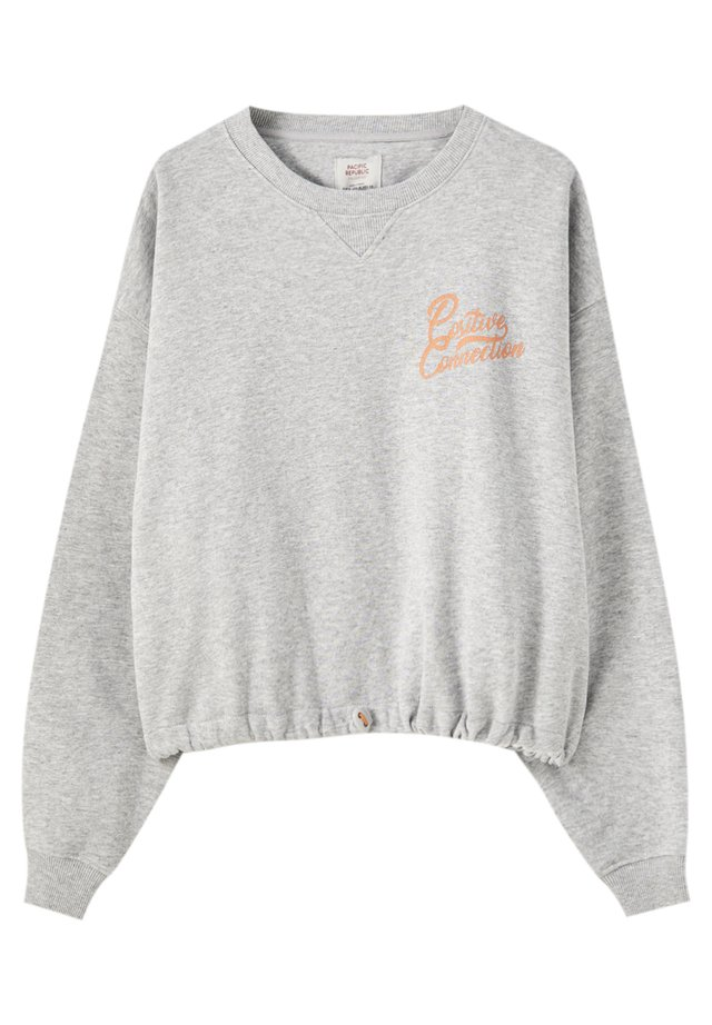 MIT GUMMIZUG AM SAUM - Sweatshirt - grey denim