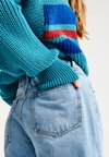 PULL&BEAR - MOM-FIT - Jeansy Straight Leg - blue