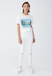 PULL&BEAR - Jeans Skinny Fit - white - 1