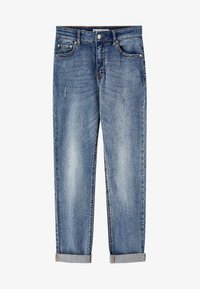 PULL&BEAR - MIT HOHEM BUND - Jeans slim fit - blue - 5